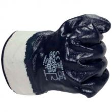 Handschoen nitrile blauw met manchet