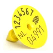 I&R oormerk M6 man. deel geel (per 100 stuks)