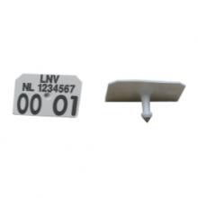 Allflex SWM man. deel wit LNV bedrukt (per 100 stuks)