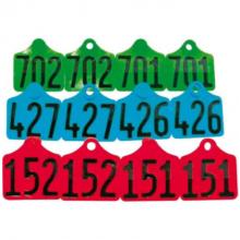 Primaflex oormerk zeugen genummerd (per 100 stuks)