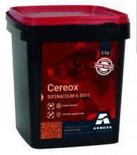 Cereox 5 kg. (Haver 50 ppm difenacoum)