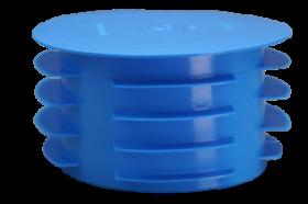 PE Dop voor afvoerstop blauw rond 125 mm