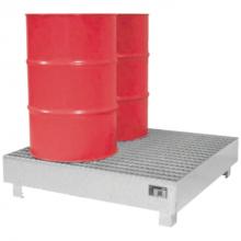 Lekbak voor vaten van 4 x 200L