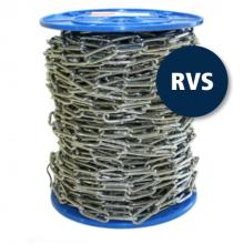 RVS ketting 4 mm 50 mtr