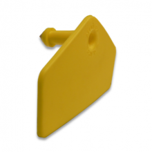 Allflex HOG man.deel blanco geel tbv transponder (dikke pin)  per 100 stuks