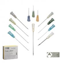 Wegwerp naalden 21G x 3/8 (0,8x10 mm) per 100 stuks