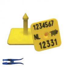 I&R oormerk M2 man. deel vierk. dunne pen geel (per 100 stuks)