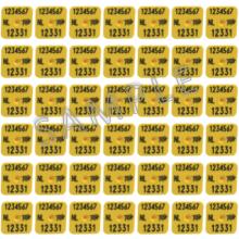 I&R Fokmerk m+v (M3+M2) vierk. dunne pen op kaart (per 100 stuks)*