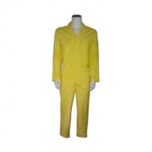 Overall drukknoop pol/kat geel