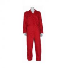 Overall polyester/katoen Rood