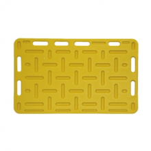 Opdrijfschot 76x126 cm geel