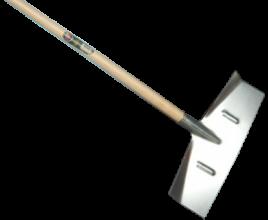 Slijk- sneeuwschuiver (50 cm) met steel (130 cm)